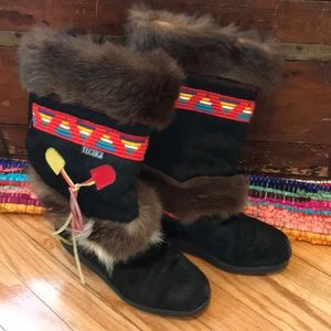 Vintage Tecnica Indian Style Boots